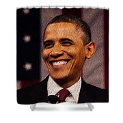 President Obama Shower Curtain by Mim White