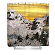 President Reagan At Mount Rushmore Shower Curtain