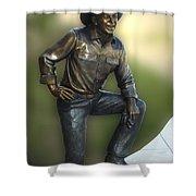 President Ronald Reagan Statue Shower Curtain