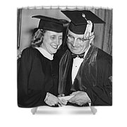 President Truman And Daughter Shower Curtain