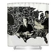 Presidential Map, C1912 Shower Curtain