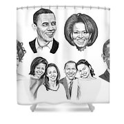 Presidential Shower Curtain by Murphy Elliott