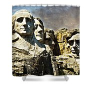 Presidential Rocks Shower Curtain