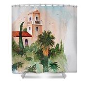 Presidio Park San Diego Shower Curtain
