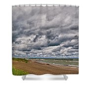 Presque Isle Beach 12061 Shower Curtain