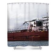 Presque Isle Freighter Shower Curtain