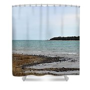 Presque Isle Harbor Shower Curtain