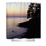 Presque Isle In Pastels Shower Curtain
