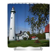 Presque Isle Mi Lighthouse 4 Shower Curtain