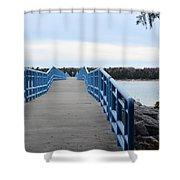 Presque Isle Pier Shower Curtain