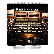 Press Any Key Shower Curtain