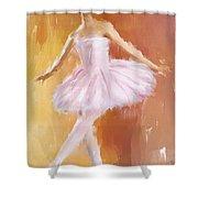 Pretty Ballerina Shower Curtain by Lourry Legarde