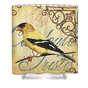 Pretty Bird 3 Shower Curtain