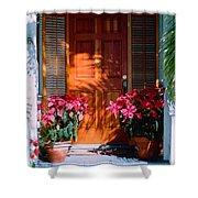 Pretty House Door In Key West Shower Curtain by Susanne Van Hulst