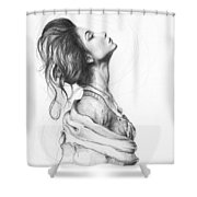 Pretty Lady Shower Curtain by Olga Shvartsur