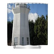Pretty Lighthouse In Decatur Alabama  Shower Curtain
