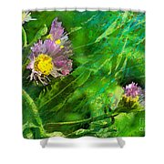Pretty Little Weeds Photoart Shower Curtain