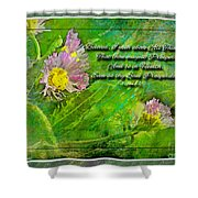 Pretty Little Weeds With Photoart And Verse Shower Curtain