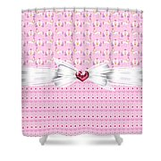 Pretty Pink Princess Shower Curtain by Debra  Miller