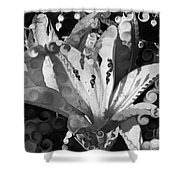 Pretty Pouting Pleasures A Black And White Painting Shower Curtain