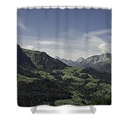 Pretty Sight Of The French Alps Shower Curtain