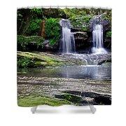 Pretty Waterfalls In Rainforest Shower Curtain