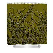 Prickly Branches Shower Curtain