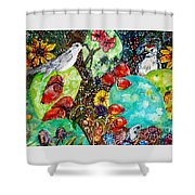 Prickly Pear Cactus And Friends, Southwestern Region Shower Curtain