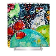 Prickly Pear Cactus Study II Shower Curtain