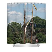 Pride Of Baltimore II At Dock Shower Curtain