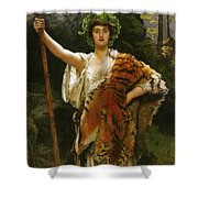 Priestess Bacchus Shower Curtain