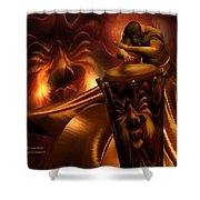 Primal Beat Shower Curtain