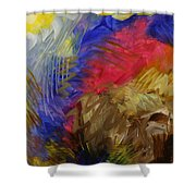 Primarily Abstract Shower Curtain