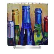 Primarily Wine Shower Curtain