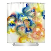 Primary Bouquet I Shower Curtain