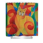 Primary Cat II Shower Curtain