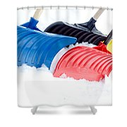 Primary Shovels Shower Curtain
