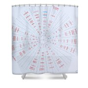 Prime Number Pattern P Mod 40 Shower Curtain by Jason Padgett