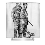Prince Charles Hunting Shower Curtain