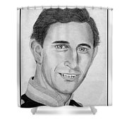 Prince Charles In 1981 Shower Curtain by J McCombie