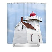 Prince Edward Island Lighthouse Shower Curtain