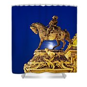 Prince Eugene Of Savoy Statue At Night Shower Curtain
