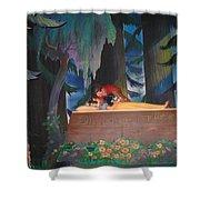 Prince Kisses Snow White Shower Curtain