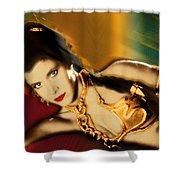 Princess Leia Star Wars Episode Vi Return Of The Jedi 1 Shower Curtain by Tony Rubino