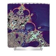 Princess Tiara Fractal Shower Curtain