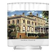 Princeton New Jersey - The Princeton Inn - 1925 Shower Curtain
