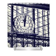 Principe Pio Clock Shower Curtain by Joan Carroll