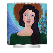 Priscilla  The Balancing Angel Of Love Shower Curtain