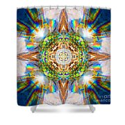 Prism Rainbow Mandala Shower Curtain