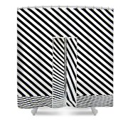 Prism Stripes 1 Shower Curtain